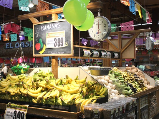 Bananas are one of the bestselling items in the produce