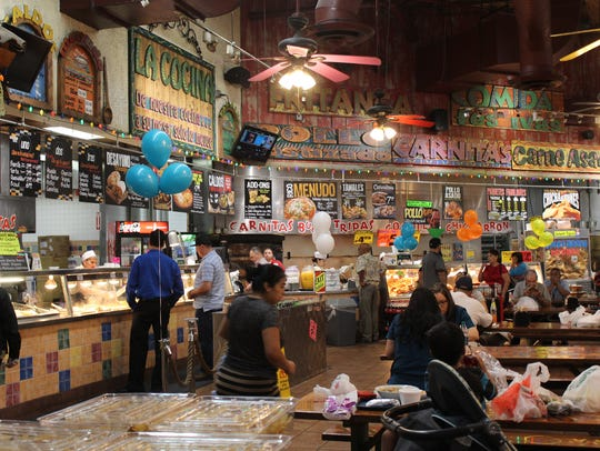 Customers can order such dishes as tacos, rotisserie