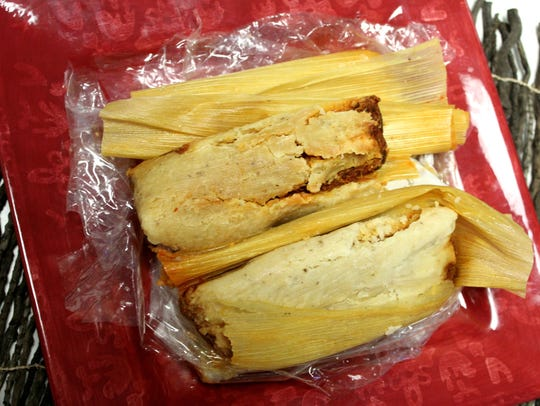 Beef, pork and other styles of tamales are sold at