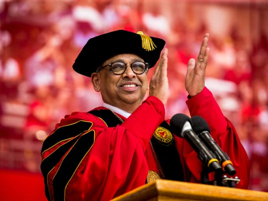 The University of Cincinnati president Neville Pinto