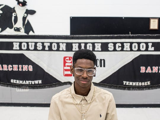 May 11, 2017 -  John Cooper, a Houston High senior who was born with Coats' disease, a degenerative eye disease, is one of the winners of this year's Memphis 'Beat the Odds' Foundation award. Cooper will be attending the University of Tennessee at Chattanooga in the fall.