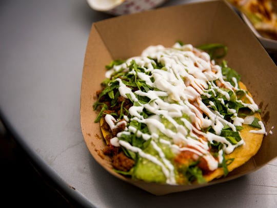 Mazunte's chorizo tostado costs $4 at Taste of Cincinnati.