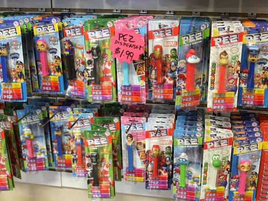 Take your pick of Pez characters at Sweeties Candy