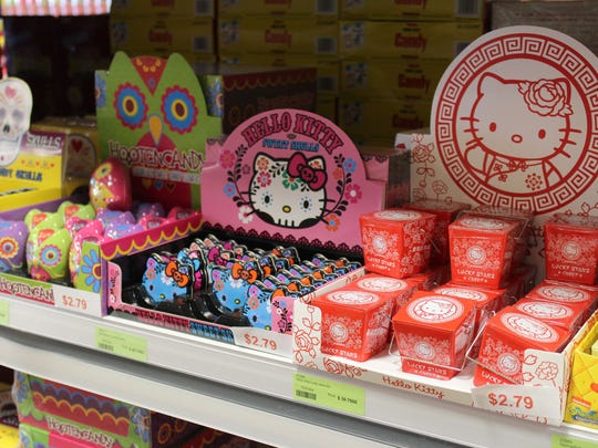Hello Kitty novelty candy tins are available at Sweeties
