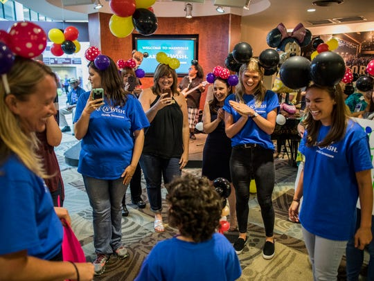 Make-A-Wish staff, representatives from Southwest Airlines,