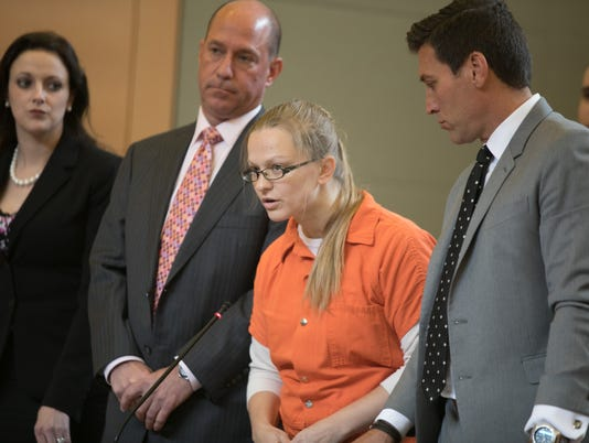 Angelika Graswald pleads guilty to criminally negligent homicide in the kayak related death of her fiancee Vincent Viafore  in Goshen, NY on July 25, 2017. ALLYSE PULLIAM/For the Times Herald-Record