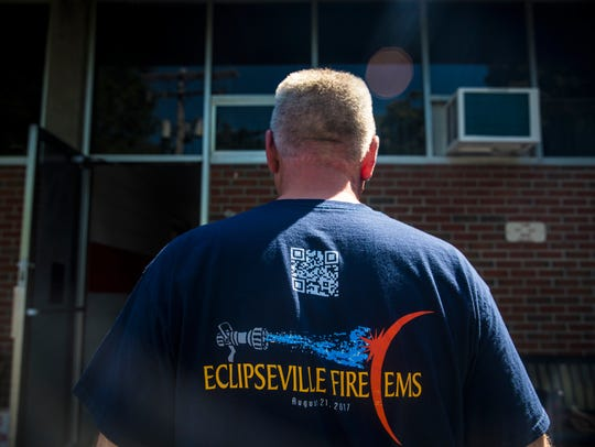 The City of Hopkinsville Fire Department wears eclipse
