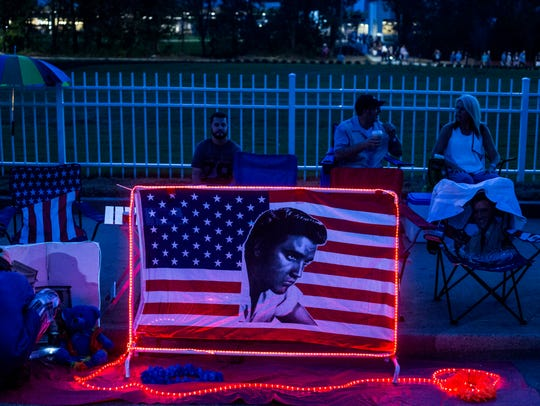 August 15, 2017 - Elvis Presley fans  came out by the