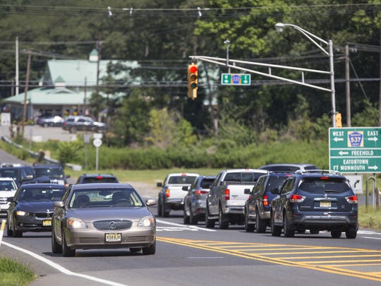 Intersection of State Route 34 and County Road 537, which has been called the most congested in the county. Bids for renovating the intersection have come in at $17 million, 4 million cheaper than anticipated.