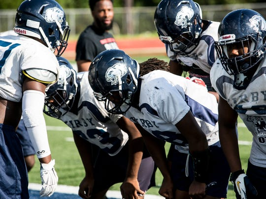 September 06, 2017 - Action from Kirby High School's football practice.