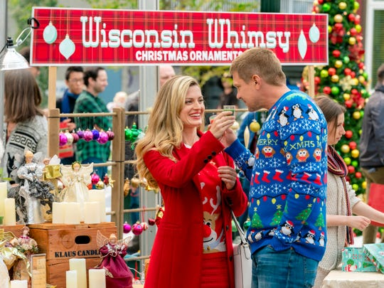 """Brooke D'Orsay and Marc Blucas in Hallmark's """"Miss Christmas."""""""