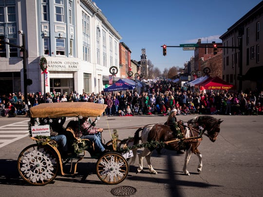 Thousands attend the Lebanon Horse Drawn Carriage Parade