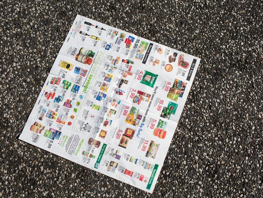 January 05, 2018 - A page of coupons is seen on the