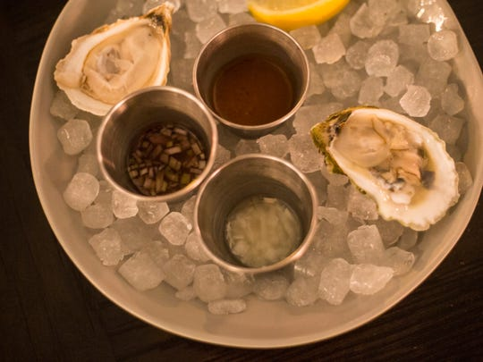 January 27, 2018 - Oysters are available at the Gray Canary, a new restaurant inside of the Old Dominick Distillery building on South Front Street. The Gray Canary is Andy Ticer and Michael Hudman's sixth restaurant.