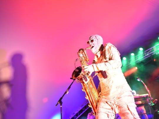 Here Come the Mummies perform Saturday at the Montgomery Performing Arts Centre.