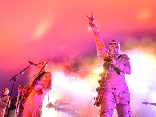 Here Come the Mummies perform Saturday at the Montgomery