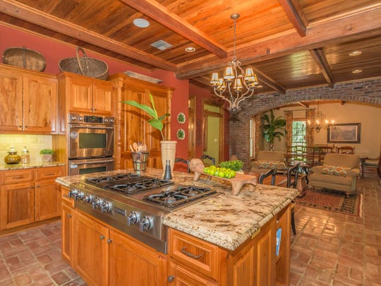 The kitchen is large and inviting.