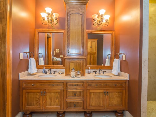 The master bath is large with ample closet space.