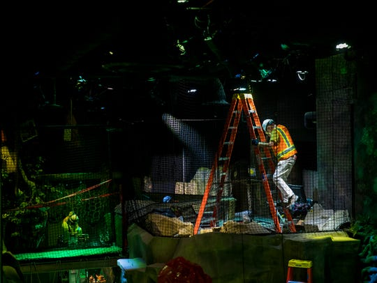 Construction and museum crews work on the Children's