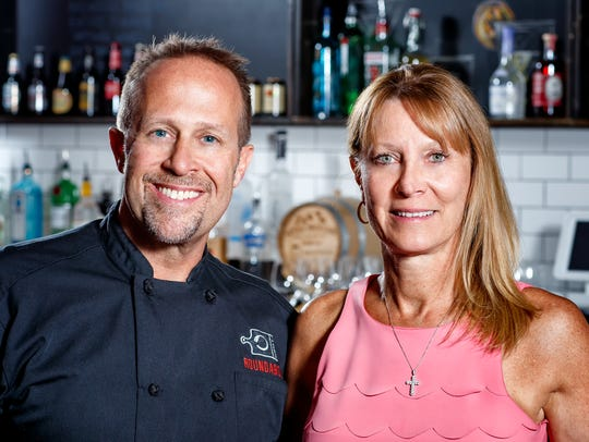 Chef Colin and MaryBeth Smith, owners of Roundabout