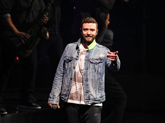 "May 30, 2018 - Scenes from Justin Timberlake's return to Memphis for a stop on his ""Man of the Woods"" tour at the FedExForum on May 30, 2018. The tour celebrates his fifth studio album that was released in February."