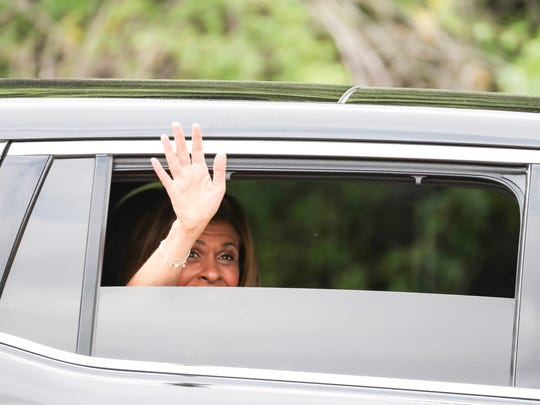 "June 13, 2018 - Hoda Kotb leaves after interviewing reality star Kim Kardashian West who arrived to meet with Alice Marie Johnson and film an interview with the ""Today"" show. Kardashian West was instrumental in getting President Donald Trump to grant clemency to the 63-year-old grandmother, who received a life sentence in 1996 for her role in a drug trafficking organization."