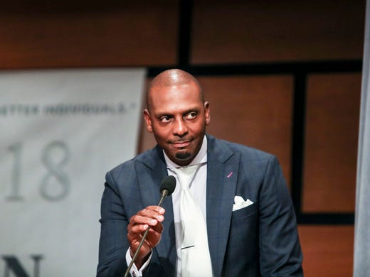June 20, 2018 - Penny Hardaway speaks during Jerry