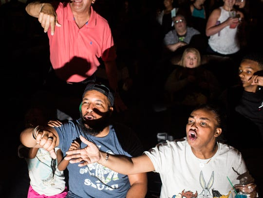 Fans boo during the Ultimate Championship Pro Wrestling South event at the Rec Room in Memphis.
