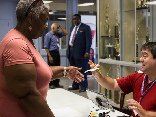 July 13, 2018 - Scenes from the first day of early voting at Mississippi Boulevard Christian Church.