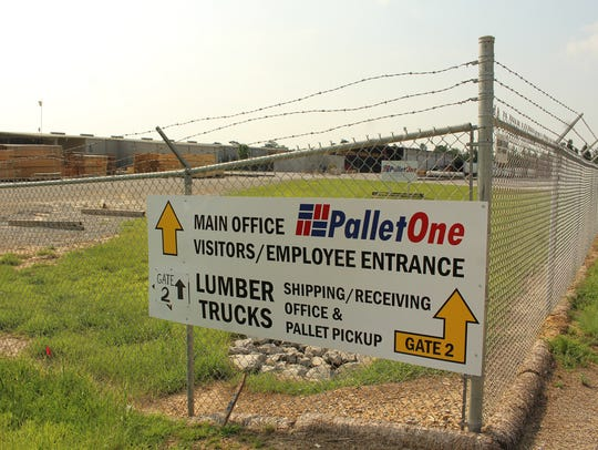 PalletOne property is clearly marked at a storage site