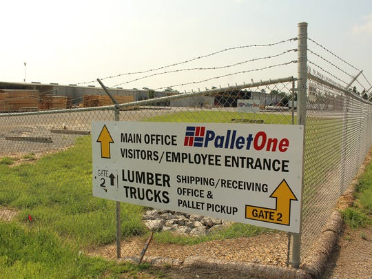PalletOne property is clearly marked at a storage site in Dallas County. Alvin Benn/Special to the Advertiser