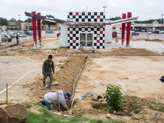 July 23, 2018 - Construction continues on a new Checkers