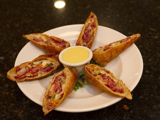 An order of Dublin egg rolls at St. Stephen's Green