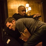 """Denzel Washington, top, and Nash Edgerton duke it out in the derivative """"The Equalizer."""""""