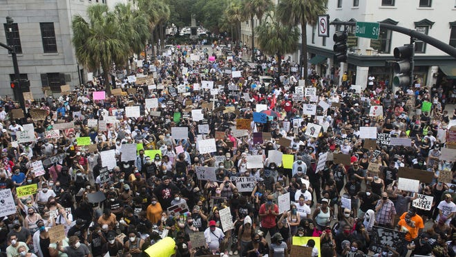 Thousands of Savannah community members gathered in Johnson Square two weeks ago to protest the slaying of George Floyd by a Minneapolis police officer.