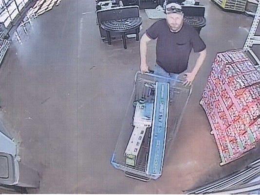 Suspected walmart shoplifter