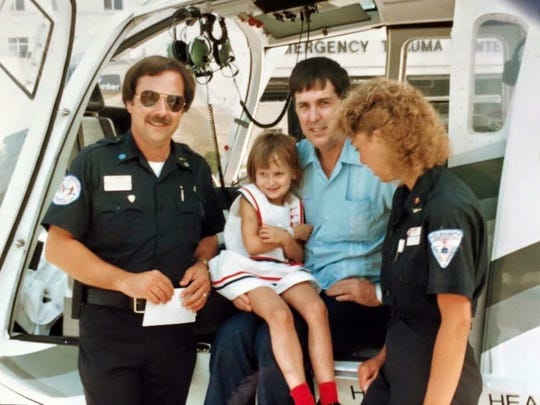Tom Roper, on far left, was the first practicing paramedic in the region and Mercy's first EMS manager.