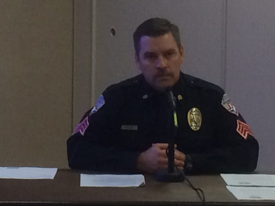 Sgt. Cory Moore,  with the San Angelo Police Department, testified at Maryan Cade's arbitration hearing.