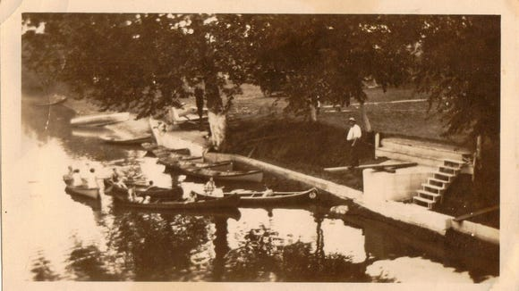 Dean Messerly shared this photo of the Dick's Dam canoe landing, also circa 1928.