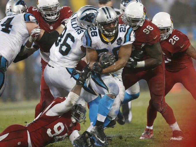 The Arizona Cardinals and Carolina Panthers are one
