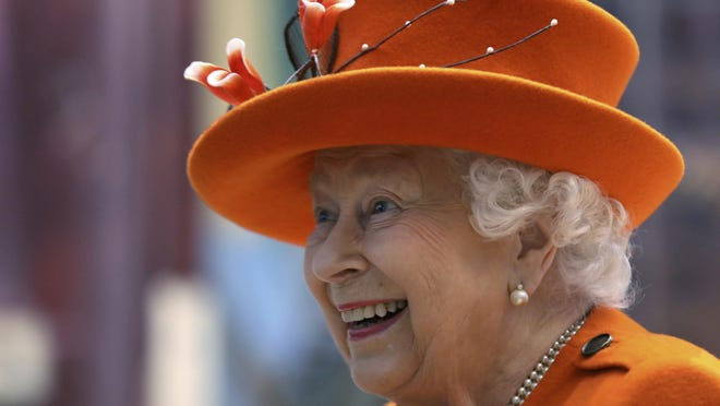 Britain's Queen Elizabeth II reacts during a visit to the Science Museum in London, March 7, 2019.