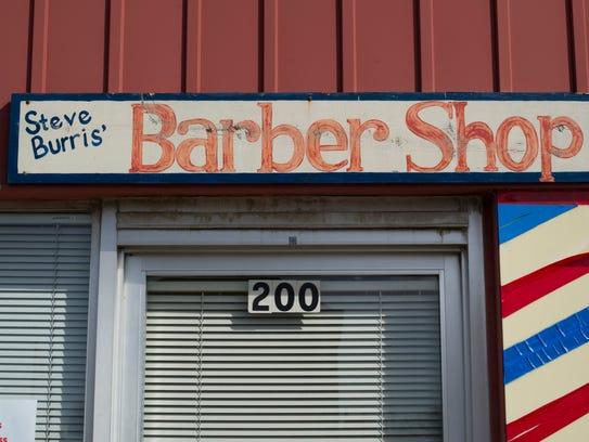 Steve Burris Barber Shop at 200 Main Street in Mount Vernon, Ind., is ...