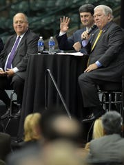 Joe Nosef, Mississippi Republican Party Chair, center,