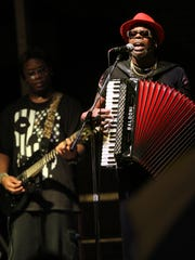 C.J. Chenier brought his Red Hot Louisiana Band to