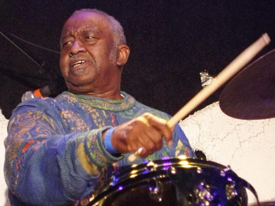 Legendary drummer Bernard Purdie, pictured on stage at the Stone Pony in Asbury Park in 2011.
