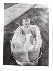 Nick Nolte's baby photo as U.S. enters World War II
