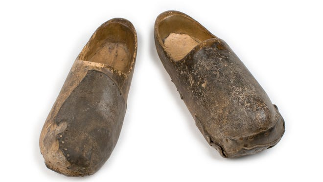 Wooden shoes worn by Civil War Home Guardsman Francis Hiequit, 1863; Collection of the Indiana State Museum and Historic Sites, Gift of Frank Hiequit