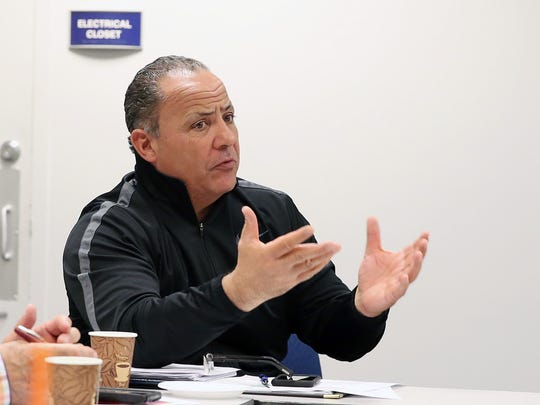 North Salem AD Henry Sassone during Section 1 meeting at Southern Westchester BOCES in Harrison April 24, 2018.