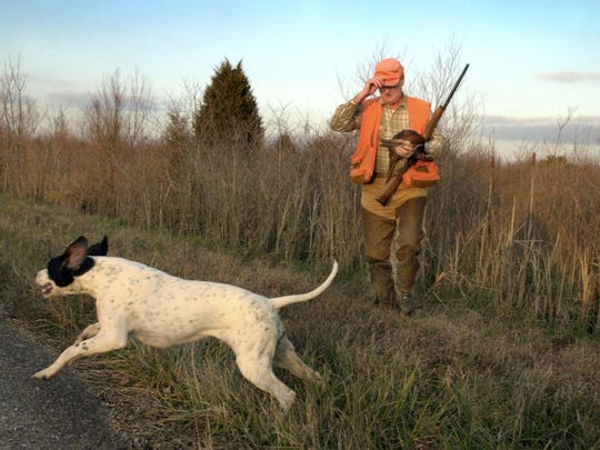 Hunting is legal in Indiana. You don't need a license
