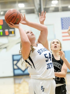 Enka's Macee Kirkpatrick will play in the March 18 Blue-White All-Star girls basketball game in Candler.